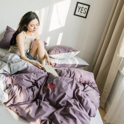 2019新款-绣花系列单品被套 150x200cm 千黛紫