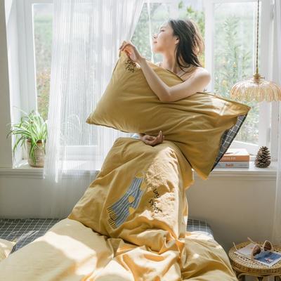 2019新款-绣花系列单品床笠 150cmx200cm 奥丁金