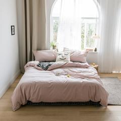 2019新款-绣花系列四件套 三件套1.2m(4英尺)床 樱花粉