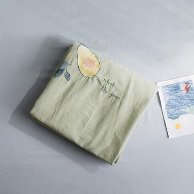 2019新款-绣花系列单品床单 180cmx230cm 梵星绿