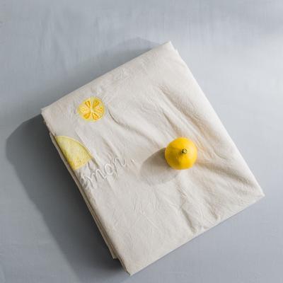 2019新款-绣花系列单品床单 180cmx230cm 柠檬黄