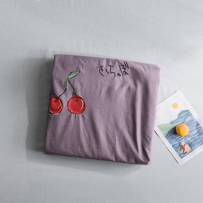 2019新款-绣花系列单品床单 180cmx230cm 千黛紫