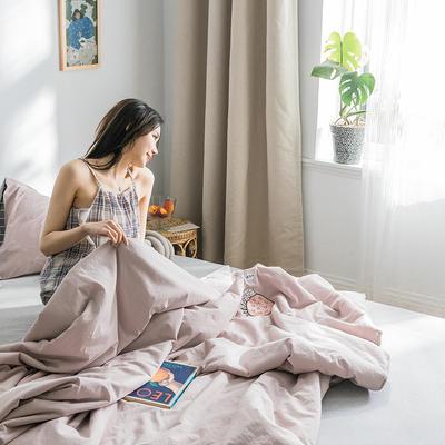 2019新款-全棉水洗棉绣花夏被 150x200cm 樱花粉