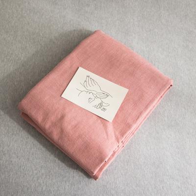 2019新款纯色绣花水洗棉-单品被套 200X230cm 暮光-红