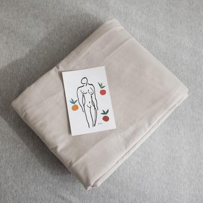 2019新款纯色绣花水洗棉-单品被套 200X230cm 暮光-咖