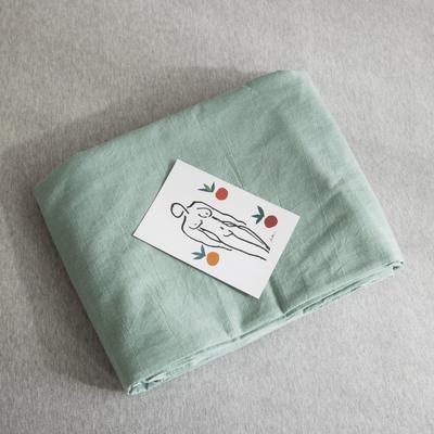 2019新款纯色绣花水洗棉-单品被套 150x200cm 暮光-绿