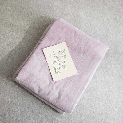 2019新款纯色绣花水洗棉-单品被套 200X230cm 暮光-紫