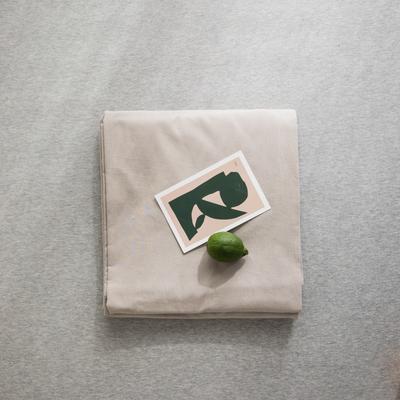 2019新款纯色绣花水洗棉-单品床单 245cmx250cm 暮光-咖