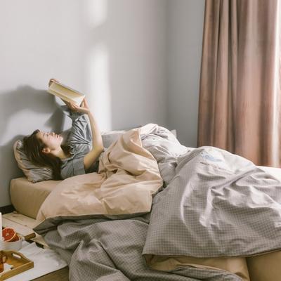 2019新款-13372全棉绣花四件套 床单款四件套1.5m(5英尺)床 流浪猫