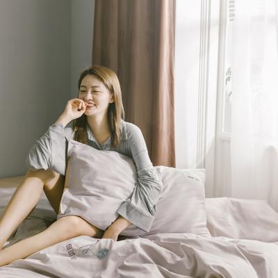2019新款-13372全棉绣花四件套 床单款三件套1.2m(4英尺)床 毛线