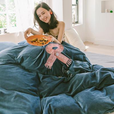 2019新款-考拉绒四件套 床单款三件套1.2m(4英尺)床 宝石蓝