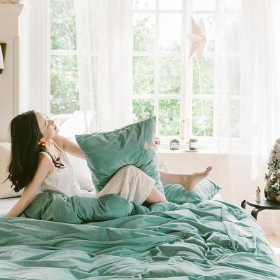 2019新款-考拉绒四件套 床单款三件套1.2m(4英尺)床 魔法绿