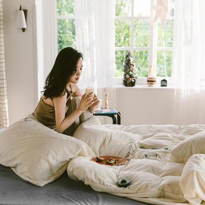 2019新款-考拉绒四件套 床单款三件套1.2m(4英尺)床 珍珠白