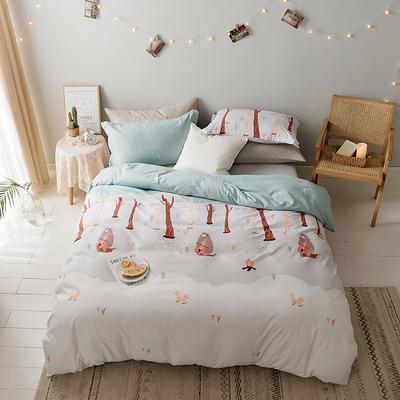 2019新款-水洗亲肤棉四件套 床单款三件套1.2m(4英尺)床 美妙乐章