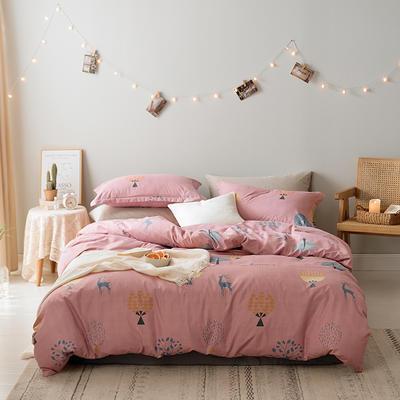 2019新款-水洗亲肤棉四件套 床单款三件套1.2m(4英尺)床 梦幻森林