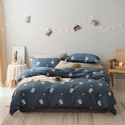 2019新款-水洗亲肤棉四件套 床单款三件套1.2m(4英尺)床 太阳花精灵