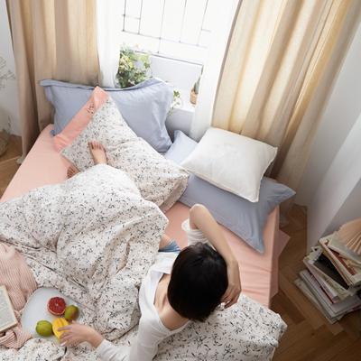 2020新款-全棉复古小碎花绣花系列四件套 床单款三件套1.2m(4英尺)床 白山茶