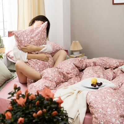 2020新款-全棉复古小碎花绣花系列四件套 床单款四件套1.5m(5英尺)床 满天星