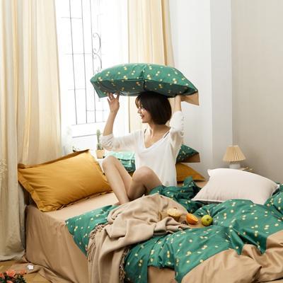 2020新款-全棉复古小碎花绣花系列四件套 床单款三件套1.2m(4英尺)床 木棉花