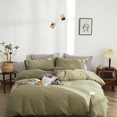 2021新款-无印系列三件套 1.5m 床单款四件套 素雅-抹茶绿