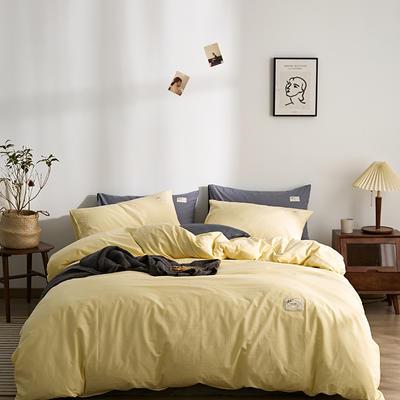 2021新款-无印系列三件套 1.5m 床单款四件套 素雅-米黄