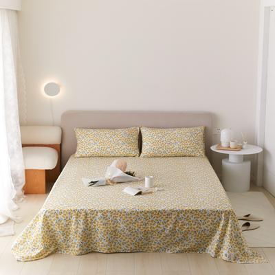 2021新款印花单品床单 160*245cm 半夏-黄床单