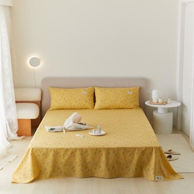 2021新款印花单品床单 160*245cm 纯粹-黄床单