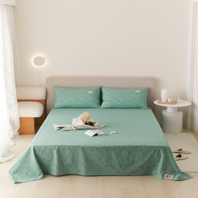 2021新款印花单品床单 160*245cm 纯粹-绿床单