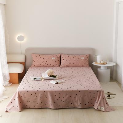 2021新款印花单品床单 160*245cm 繁星点点-粉床单