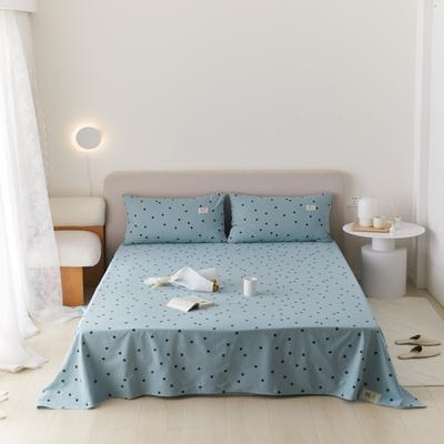 2021新款印花单品床单 160*245cm 繁星点点-蓝床单