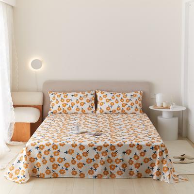2021新款印花单品床单 160*245cm 暖阳床单