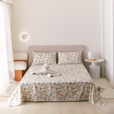 2021新款印花单品床单 160*245cm 小橙子床单