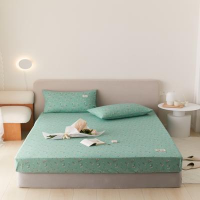 2021新款印花单品床笠 120*200cm 纯粹-绿床笠