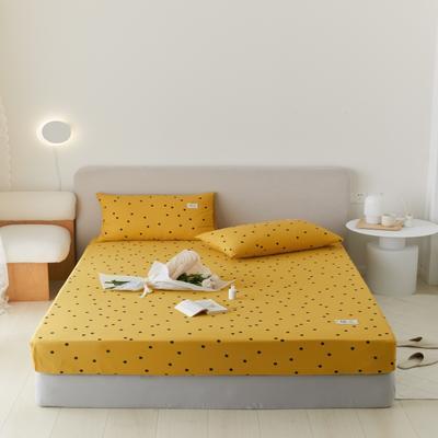 2021新款印花单品床笠 120*200cm 繁星点点-黄床笠