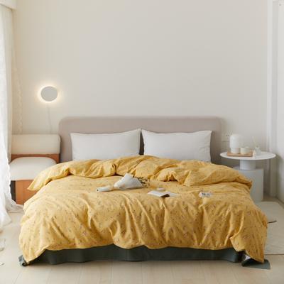 2021新款印花色单品被套 160X200cm 纯粹-黄被套