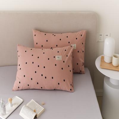2021新款印花单品枕套 48*74/对 繁星点点-粉枕套