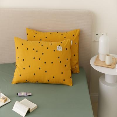 2021新款印花单品枕套 48*74/对 繁星点点-黄枕套