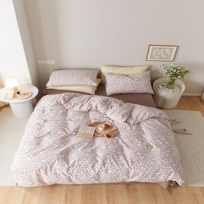 2021新款印花槿色套件 1.5m床单款四件套 半夏-粉