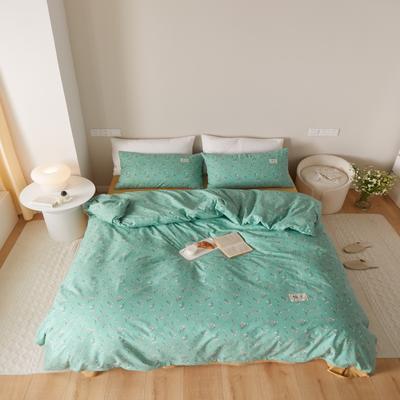 2021新款印花槿色套件 1.5m床单款四件套 纯粹-绿