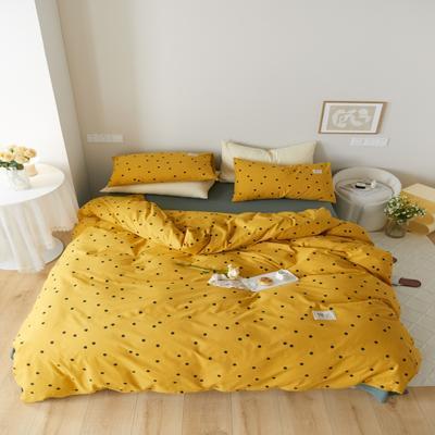 2021新款印花槿色套件 1.5m床单款四件套 繁星点点-黄