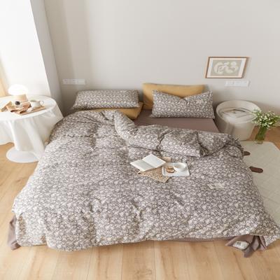 2021新款印花槿色套件 1.5m床单款四件套 梵芙