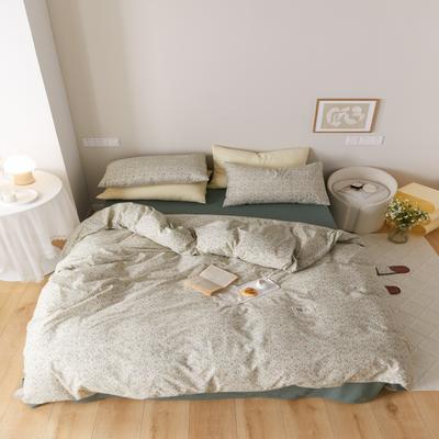 2021新款印花槿色套件 1.5m床单款四件套 花开