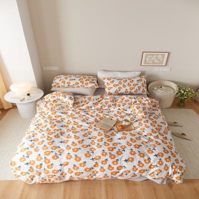 2021新款印花槿色套件 1.5m床单款四件套 暖阳