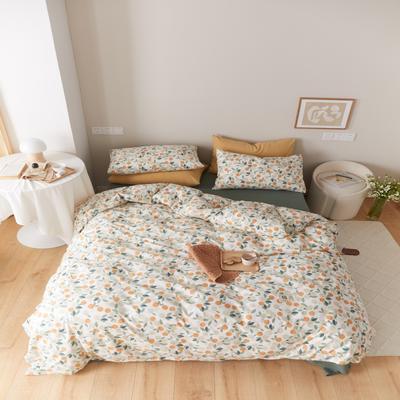 2021新款印花槿色套件 1.5m床单款四件套 小橙子