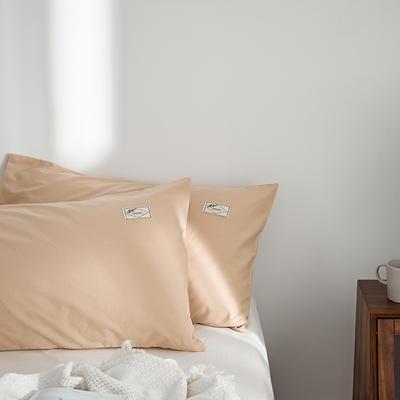 2021新款无印单品系列--单枕套 48*74cm  枕套一对 素雅-浅驼