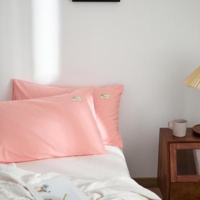 2021新款无印单品系列--单枕套 48*74cm  枕套一对 素雅-玉色