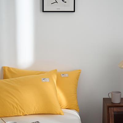 2021新款无印单品系列--单枕套 48*74cm  枕套一对 素雅-金黄