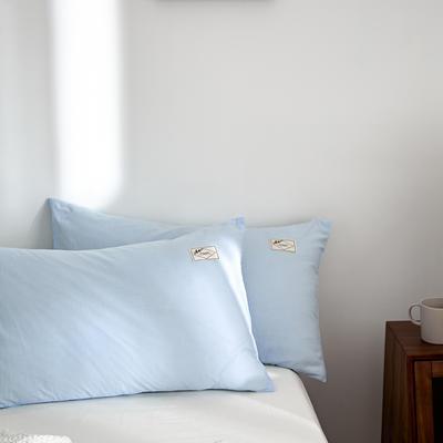 2021新款无印单品系列--单枕套 48*74cm  枕套一对 素雅-天兰