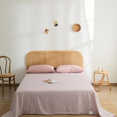 2021新款无印单品系列--单床单 160*245cm 阿森呐-粉