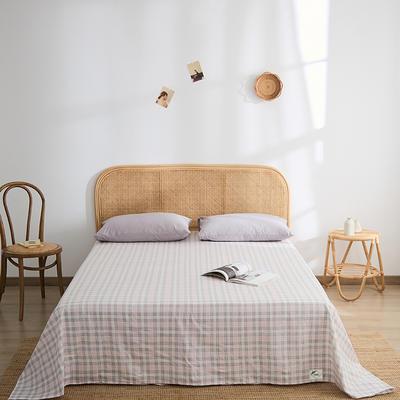2021新款无印单品系列--单床单 160*245cm 安格道-粉